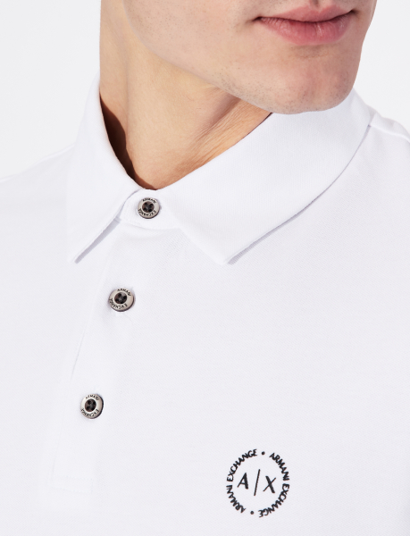 detail Polo Armani Exchange